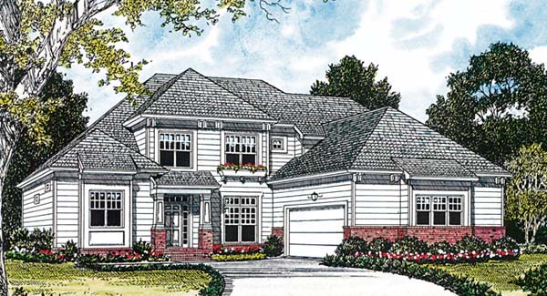 House Plan 85408 | Cottage Craftsman Style Plan with 3095 Sq Ft, 4 Bedrooms, 3 Bathrooms, 2 Car Garage Elevation