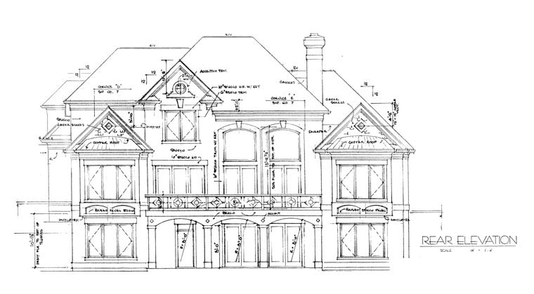 Traditional House Plan 85409 Rear Elevation