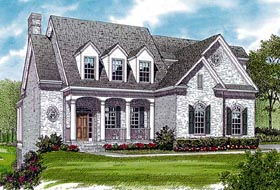 House Plan 85410 | Traditional Style Plan with 3856 Sq Ft, 4 Bedrooms, 5 Bathrooms, 2 Car Garage Elevation