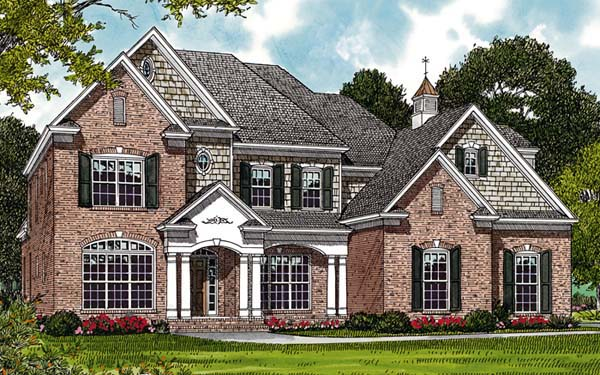 Traditional House Plan 85412 with 4 Beds, 4 Baths, 2 Car Garage Elevation