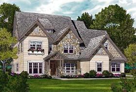 Craftsman , Cottage House Plan 85414 with 4 Beds, 4 Baths, 2 Car Garage Elevation