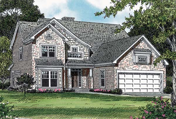 Cottage Craftsman House Plan 85415 Elevation