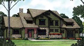 Cottage , Craftsman House Plan 85418 with 3 Beds, 4 Baths, 2 Car Garage Elevation