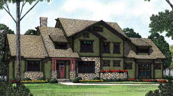 Cottage Craftsman House Plan 85418 Elevation
