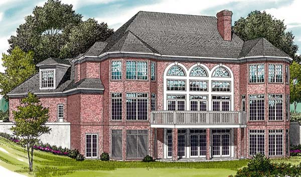 Colonial Traditional House Plan 85424 Rear Elevation