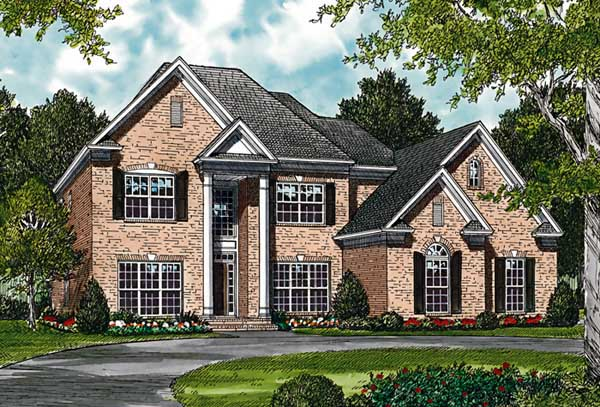 Colonial, Traditional House Plan 85427 with 4 Beds, 4 Baths, 2 Car Garage Elevation
