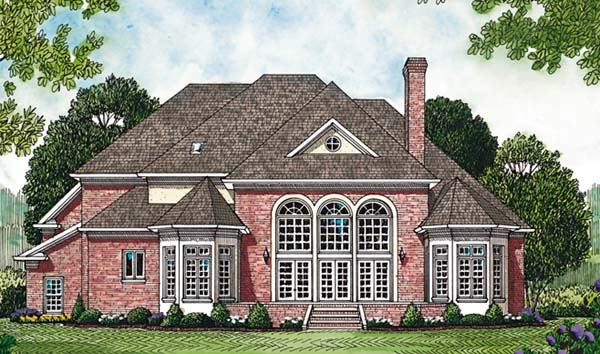 Traditional House Plan 85429 Rear Elevation