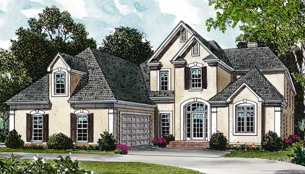 Traditional House Plan 85431 with 4 Beds, 4 Baths, 2 Car Garage Elevation
