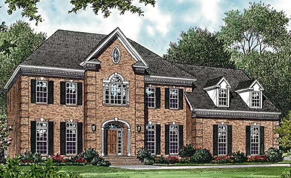 Traditional House Plan 85434 with 4 Beds, 4 Baths, 3 Car Garage Elevation