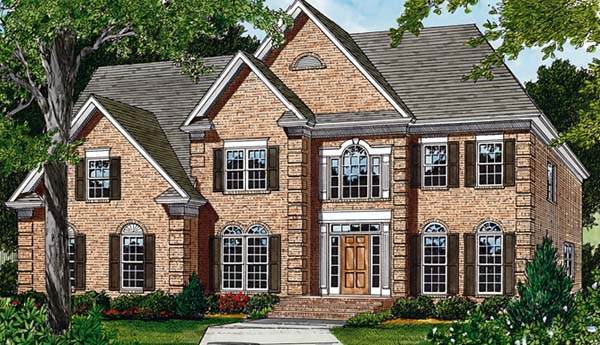 Traditional House Plan 85440 with 4 Beds, 4 Baths, 2 Car Garage Elevation