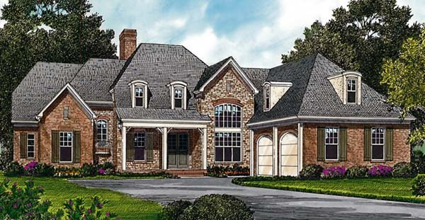 Cottage European House Plan 85447 Elevation