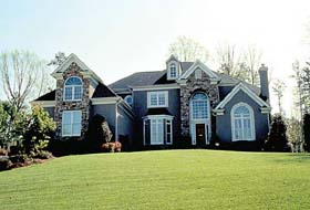 Traditional House Plan 85449 with 4 Beds, 4 Baths, 2 Car Garage Elevation