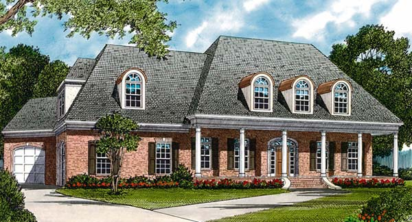Colonial Farmhouse House Plan 85450 Elevation