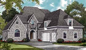 European House Plan 85451 with 3 Beds, 4 Baths, 3 Car Garage Elevation