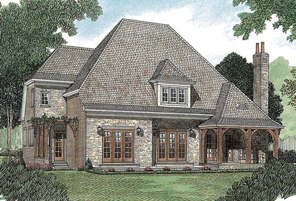European House Plan 85452 Rear Elevation