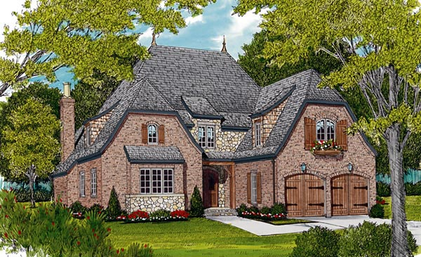 European House Plan 85456 Elevation