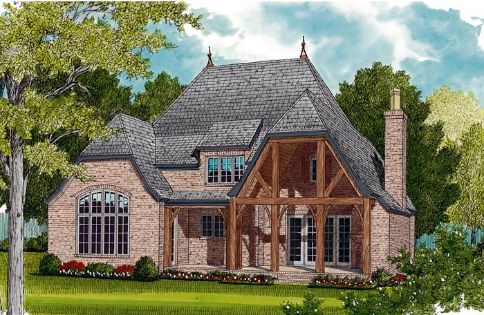 European House Plan 85456 Rear Elevation