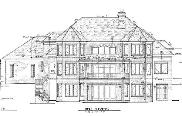 Traditional House Plan 85460 Rear Elevation