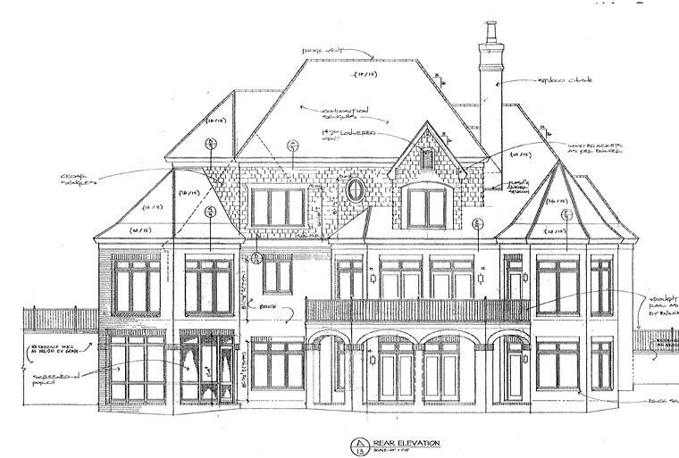 European House Plan 85461 Rear Elevation