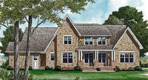Cottage Craftsman House Plan 85463 Rear Elevation