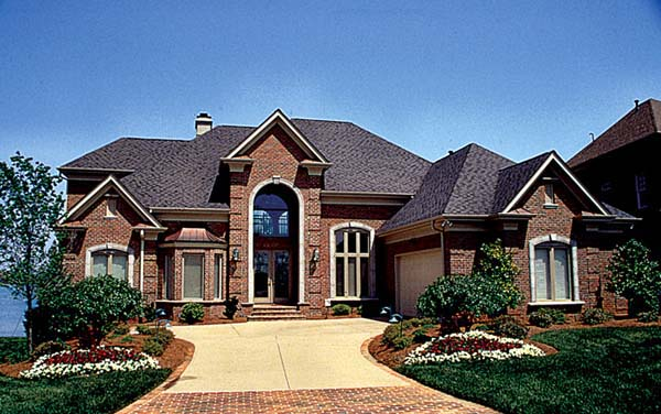 House Plan 85465 | Traditional Style Plan with 4599 Sq Ft, 4 Bedrooms, 5 Bathrooms, 2 Car Garage Elevation