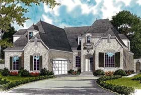 House Plan 85467 | European Style Plan with 3442 Sq Ft, 5 Bedrooms, 4 Bathrooms, 2 Car Garage Elevation
