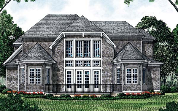 Cottage Traditional House Plan 85469 Rear Elevation