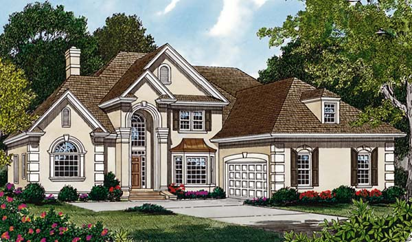 Traditional House Plan 85471 with 5 Beds, 4 Baths, 2 Car Garage Elevation