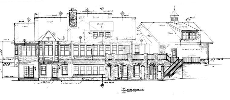 Cottage Craftsman House Plan 85473 Rear Elevation