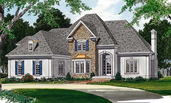 European House Plan 85477 Elevation