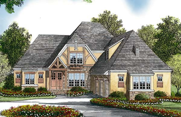 Cottage European House Plan 85479 Elevation