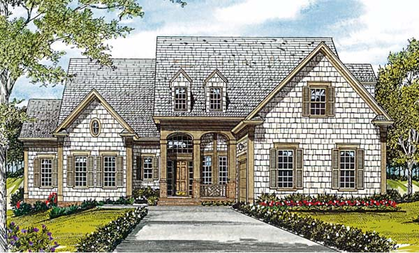 House Plan 85482 | Cottage Craftsman Style Plan with 3557 Sq Ft, 4 Bedrooms, 4 Bathrooms, 2 Car Garage Elevation