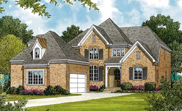 Traditional House Plan 85484 with 4 Beds, 4 Baths, 2 Car Garage Elevation