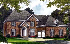 Traditional House Plan 85487 with 5 Beds, 4 Baths, 2 Car Garage Elevation