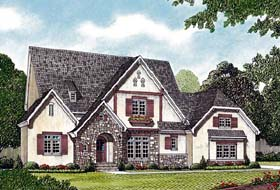 European House Plan 85489 with 5 Beds, 5 Baths, 3 Car Garage Elevation