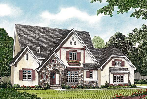 European House Plan 85489 Elevation