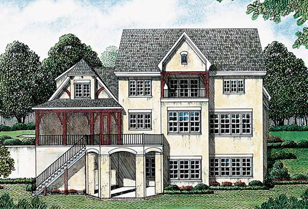 European House Plan 85489 Rear Elevation