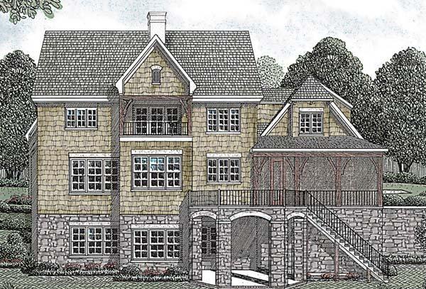 Cottage Craftsman House Plan 85492 Rear Elevation