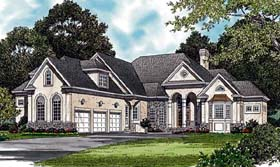 Traditional House Plan 85496 with 3 Beds, 4 Baths, 3 Car Garage Elevation