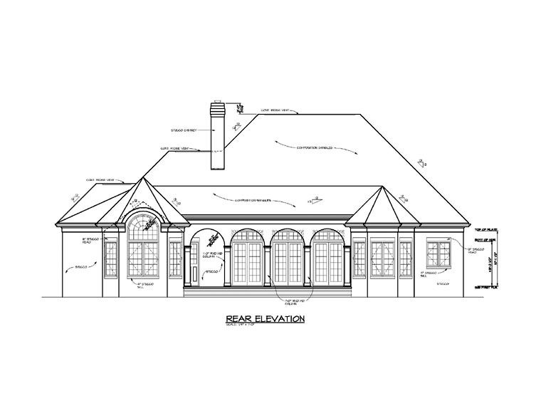 Traditional House Plan 85496 Rear Elevation
