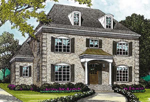 European House Plan 85498 Elevation