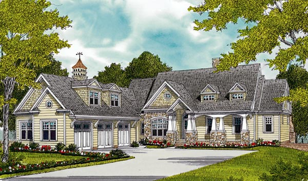 Cottage Craftsman House Plan 85501 Elevation