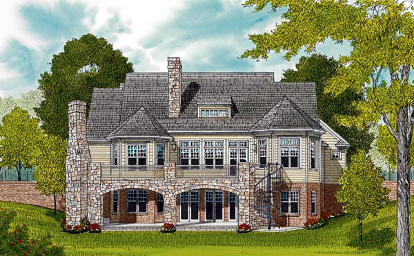Cottage Craftsman House Plan 85501 Rear Elevation