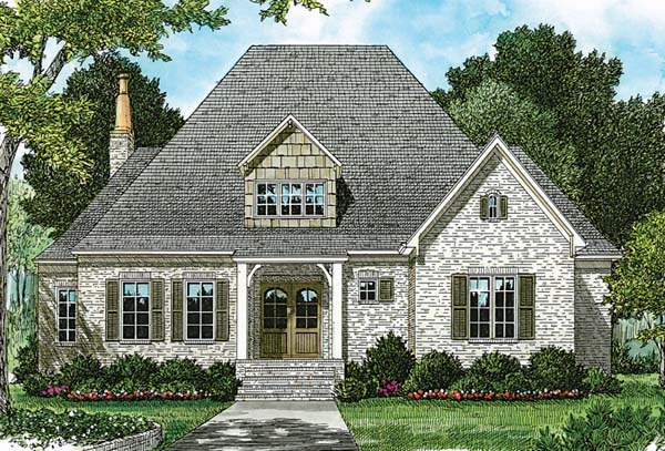 Cottage European House Plan 85505 Elevation