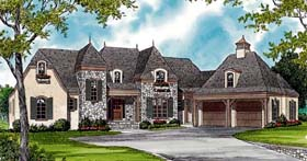 House Plan 85507 | European Style Plan with 4931 Sq Ft, 3 Bedrooms, 5 Bathrooms, 3 Car Garage Elevation