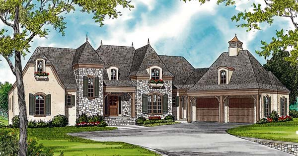 European House Plan 85507 Elevation