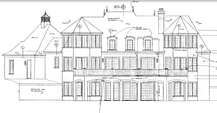 European House Plan 85507 Rear Elevation