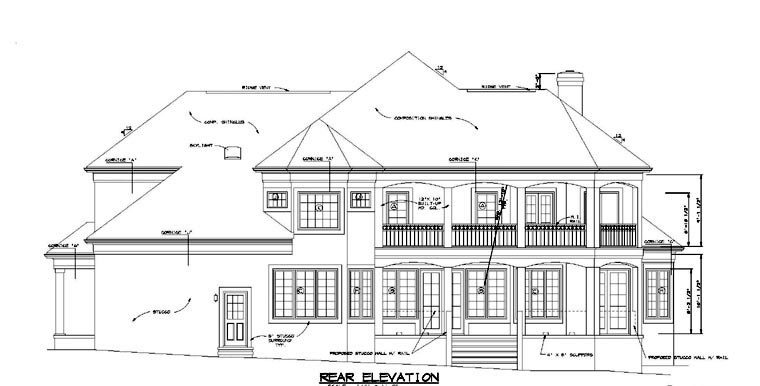 Mediterranean Traditional House Plan 85512 Rear Elevation