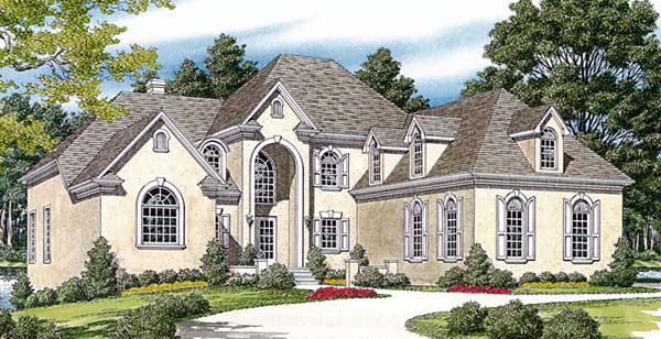 Traditional House Plan 85515 with 4 Beds, 4 Baths, 3 Car Garage Elevation