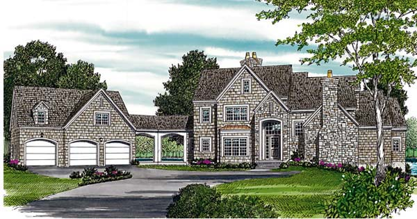 Country European House Plan 85516 Elevation